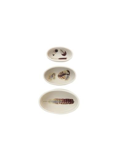 Warm Design Oval Seramik Tüy Desenli Kalıplar Renkli